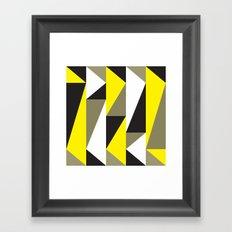 Yellow & black triangle pattern Framed Art Print