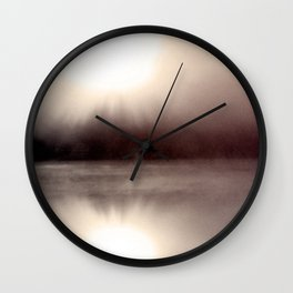 Mason Lake: Foggy Sunburst Wall Clock