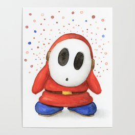 Confused Shy Guy Poster