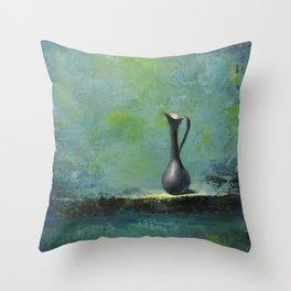 Pewter Vase Throw Pillow