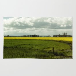 The Curve of a Mustard Crop Rug