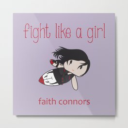 Fight Like a Girl | Running Girl Metal Print
