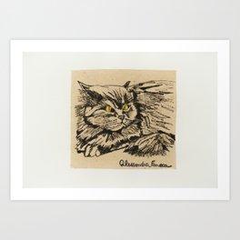 Angora cat Art Print
