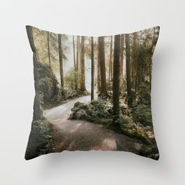 Lost in the Forest - Landscape Photography Throw Pillow