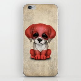 Cute Puppy Dog with flag of Austria iPhone Skin