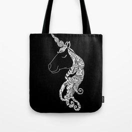 The Ivory Unicorn - Zentangle monochrome Tote Bag