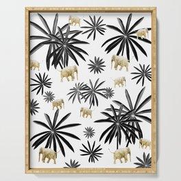 Palm Tree Elephant Jungle Pattern #1 (Kids Collection) #decor #art #society6 Serving Tray