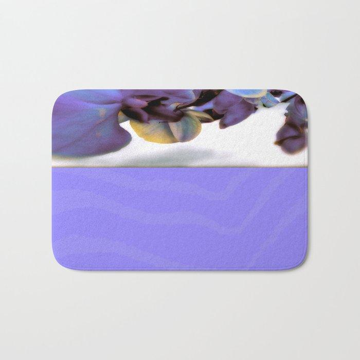 Purple Orchid and Zebra Bath Mat