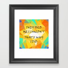 Life Framed Art Print