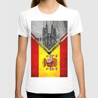 spain T-shirts featuring Flags - Spain by Ale Ibanez