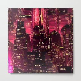 Red city Metal Print