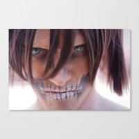 titan Canvas Prints featuring Titan by 3dbrooke