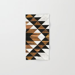 Urban Tribal Pattern 9 - Aztec - Concrete and Wood Hand & Bath Towel