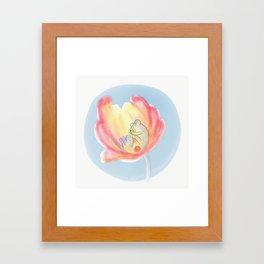 Solitary Knitter Framed Art Print