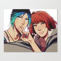 selfie Canvas Prints featuring Selfie by blue