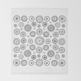 ditsy cirlces Throw Blanket