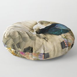 Extra Dimensional Space Walk Floor Pillow