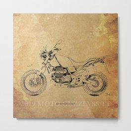 236-2019 Moto Guzzi V85 TT original artwork for bikers Metal Print