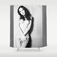 nudes Shower Curtains featuring Nude by Falko Follert Art-FF77