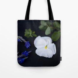 Lavandula and a Pansy Tote Bag