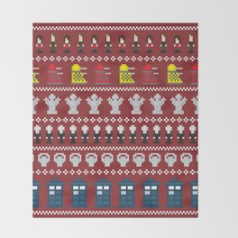 Doctor Who - Time of The Doctor - 8 bit Christmas Special Throw Blanket