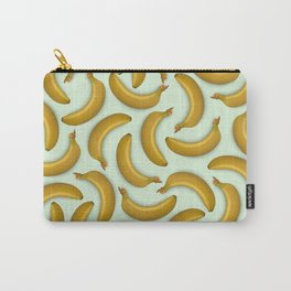 Fruit pattern. Background from bananas with realistic shadows Carry-All Pouch