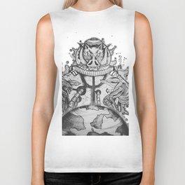 Astronauti Boar White black Biker Tank