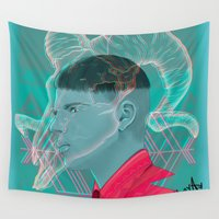 aries Wall Tapestries featuring Aries by Musya
