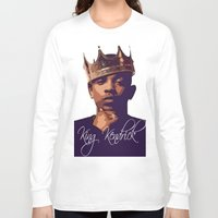 kendrick lamar Long Sleeve T-shirts featuring King Kendrick by GerritakaJey