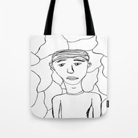 milan Tote Bags featuring Milan by Plutonian Oatmeal