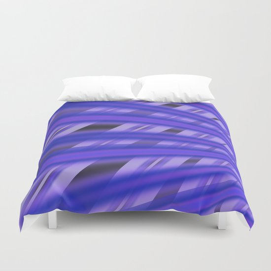 Fractal Play in Purplicious Duvet Cover