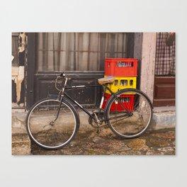 Worn Bicycle Canvas Print