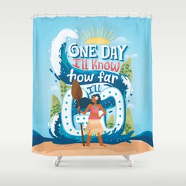 The ocean chose me Shower Curtain