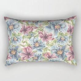 Hibiscus Vintage Pattern Rectangular Pillow