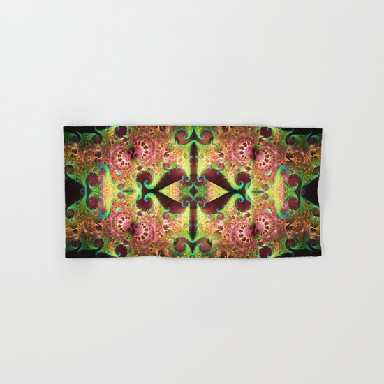 Groovy abstract with spiral patterns Hand & Bath Towel