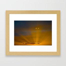 Golden Rays Framed Art Print
