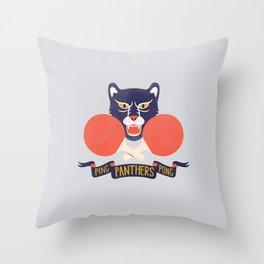 Ping Pong Panthers Throw Pillow
