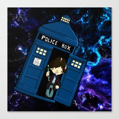 Tardis in space Doctor Who 2 Canvas Print