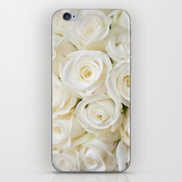 Elegant White Roses iPhone Skin