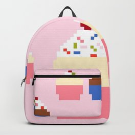Pixel Cupcakes (Pink) Backpack
