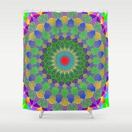 Life cycle mandala Shower Curtain