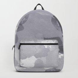 Pantone Lilac Gray Splatters Watercolor Camo Pattern Backpack