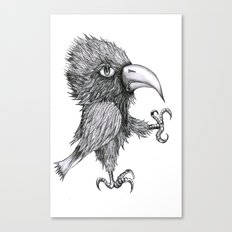 Grouchy Bird Canvas Print
