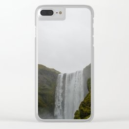 Skogafoss Clear iPhone Case