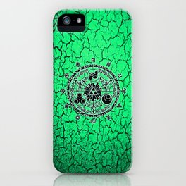 Green Circle Of Triangle iPhone Case
