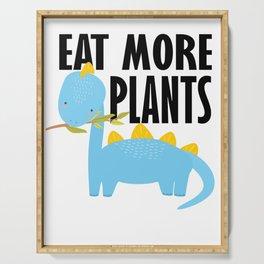 Dino kids vegetarian vegan school gift Serving Tray