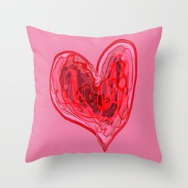 Elastic Heart Throw Pillow