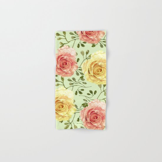 Watercolor Roses #6 Hand & Bath Towel