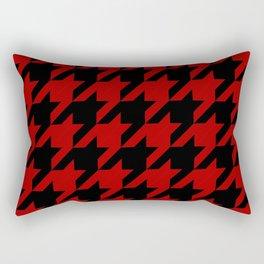 Red & Black Dogtooth Rectangular Pillow