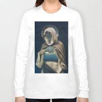 sailor Long Sleeve T-shirts featuring SAILOR by Julia Lillard Art